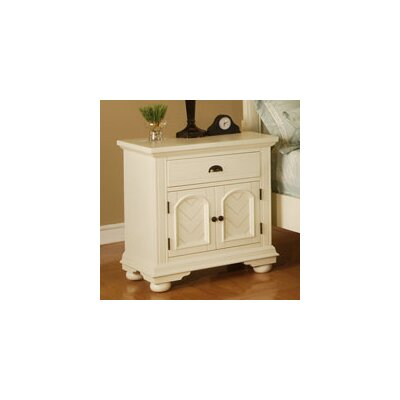 Herren 1 Drawer Nightstand Color: White