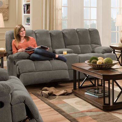 Penn Double Reclining Loveseat Upholstery: Gray
