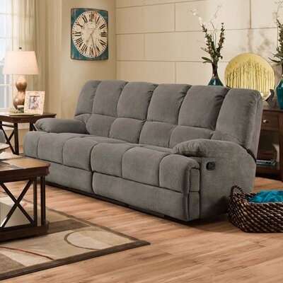 Dilorenzo Double Reclining Sofa Upholstery: Charcoal