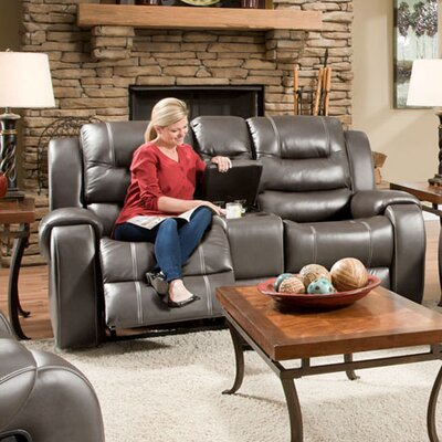 Clark Double Reclining Loveseat Upholstery: Gray