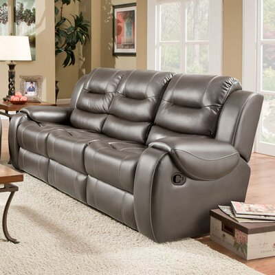 Clark Double Reclining Sofa Upholstery: Gray, Recliner Mechanism: Manual