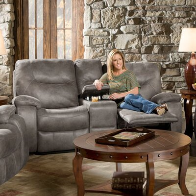 Daubert Reclining Loveseat Upholstery: Gray