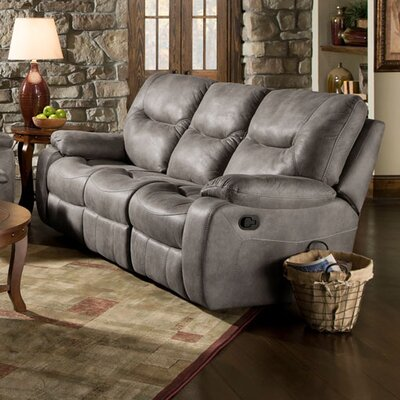 Daubert Reclining Sofa Upholstery: Gray