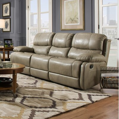 Weccacoe Leather Reclining Sofa