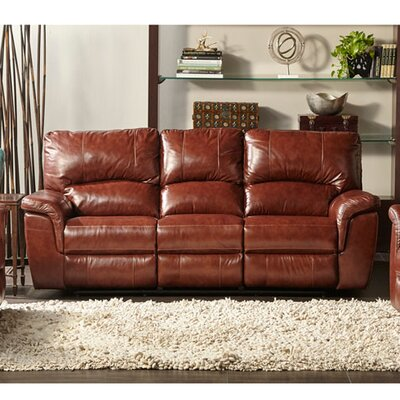 Albertus Leather Reclining Sofa