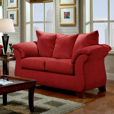 Denys Loveseat Upholstery: Red Brick