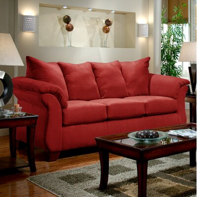 Denys Sofa Upholstery: Red Brick