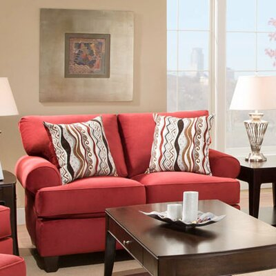 Derell Loveseat Upholstery: Red