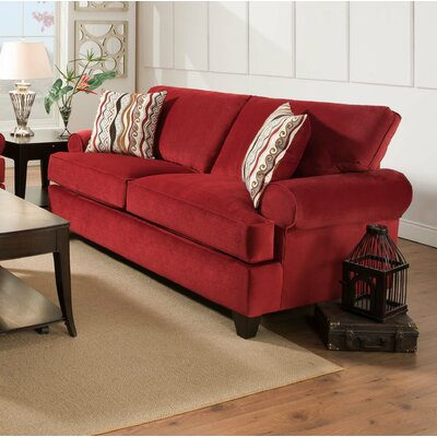 Derell Sofa Upholstery: Red