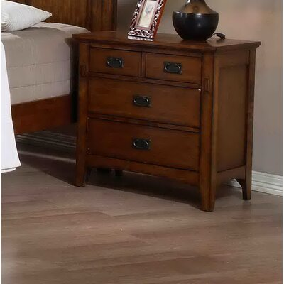 Shreyas 4 Drawer Nightstand