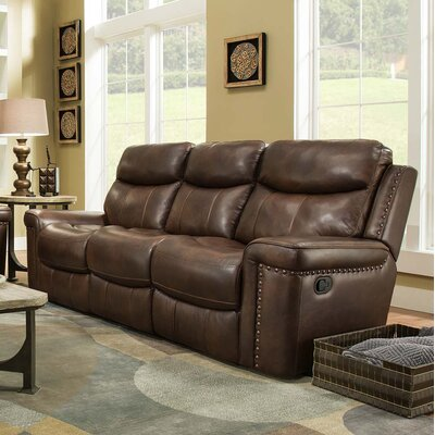 Derrek Leather Reclining Sofa