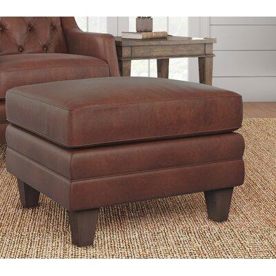 Keya Leather Ottoman Upholstery: Steamboat Chestnut