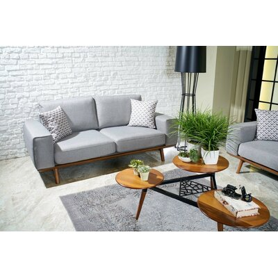 Chasse Loveseat Upholstery: Light Gray