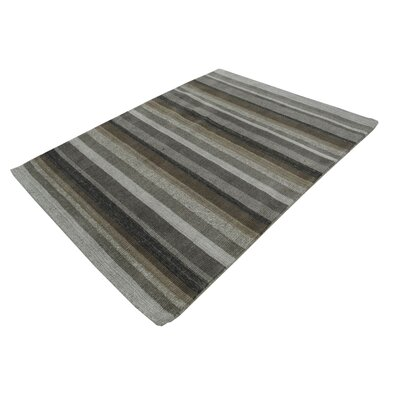 Surber Hand-Tufted Wool Gray Area Rug Rug Size: Rectangle 711 x 910