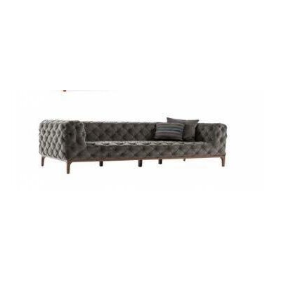 Crites Chesterfield Loveseat Upholstery: Gray