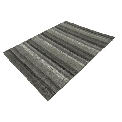 Talbert Hand-Tufted Wool Gray Area Rug Rug Size: Rectangle 53 x 72