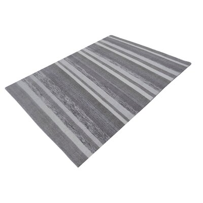 Talbott Hand-Tufted Wool Gray Area Rug Rug Size: Rectangle 711 x 910