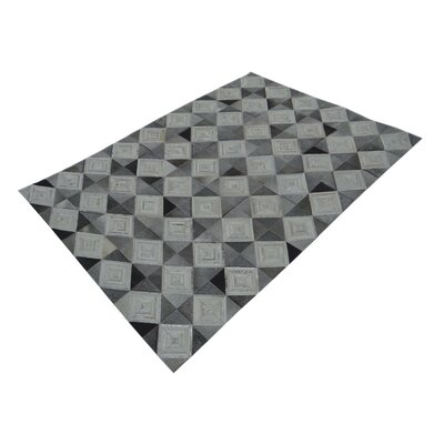 Chesney Hand-Tufted Gray/Beige Area Rug Rug Size: Rectangle 53 x 72