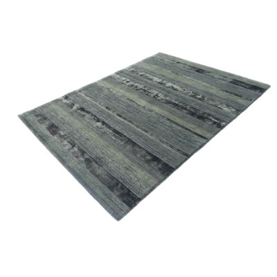 Surabaya Hand-Tufted Wool Gray Area Rug Rug Size: Rectangle 711 x 910