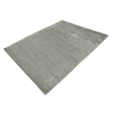 Chretien String Hand-Tufted Wool Gray Area Rug Rug Size: Rectangle 53 x 72