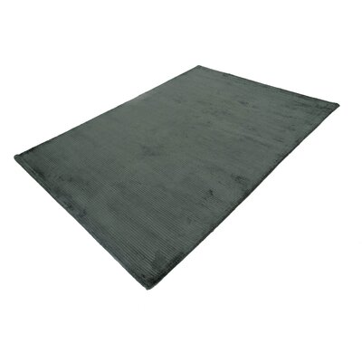 Chrisman Gray Hand-Tufted Wool Gray Area Rug Rug Size: Rectangle 53 x 72