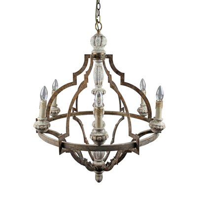 Arabella Vintage 6-Light Candle-Style Chandelier