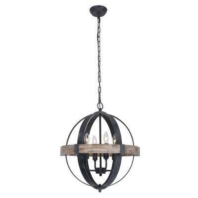 Landwehr 4-Light Globe Pendant Finish: Weathered Wood