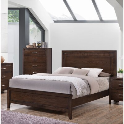 Aldreth Wood Panel Bed