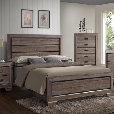 Kelm Wood Panel Bed Size: King
