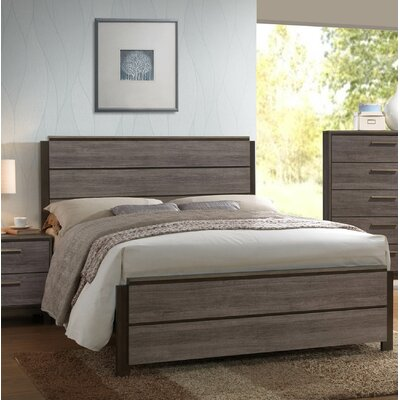 Kelson Wood Panel Bed Size: Queen