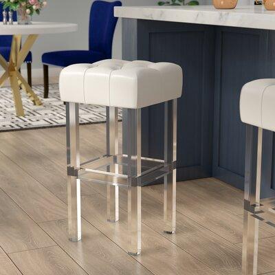 Jai 30 Bar Stool Upholstery: Ivory