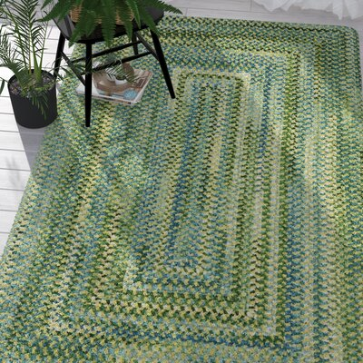 Celise Green/White Area Rug Rug Size: Concentric 5 x 8