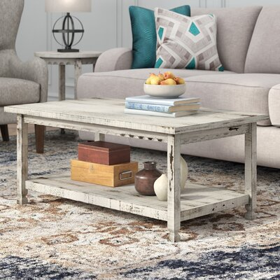 Mangum Coffee Table Color: White