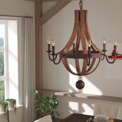 Jacobson 6-Light Candle-Style Chandelier