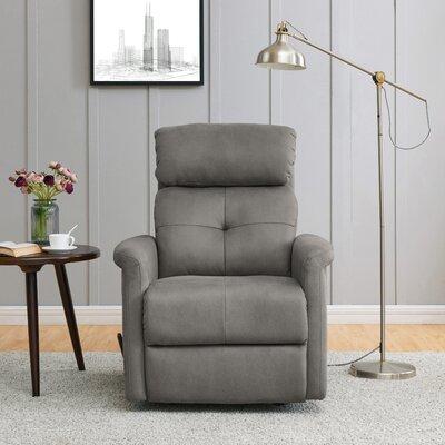 Vondrus Manual Rocker Recliner Upholstery: Gray
