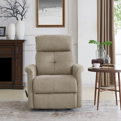 Vondrus Manual Rocker Recliner Upholstery: Ecru