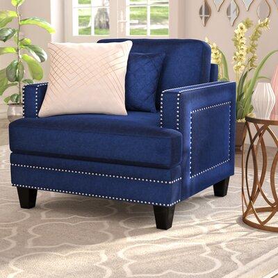 Dia Nailhead Armchair Upholstery: Navy