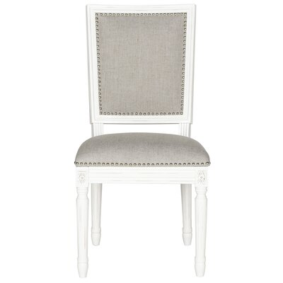 Elyas Side Chair Upholstery: Light Grey