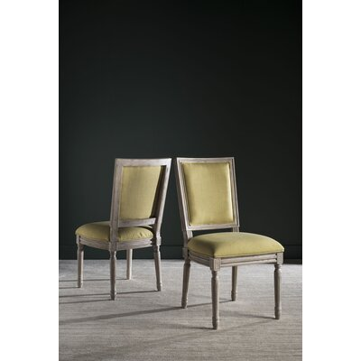 Guillemette Upholstered Dining Chair Finish: Spring Green / Rustic Gray