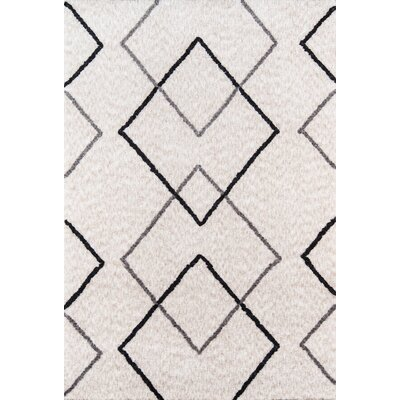 Bungalow Felix Hand-Tufted Gray Area Rug Rug Size: Rectangle 5 x 76