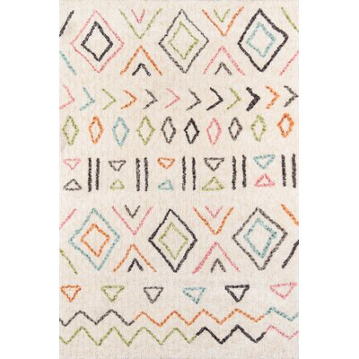 Bungalow Wes Hand-Tufted Ivory Area Rug Rug Size: Rectangle 9 x 12