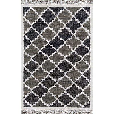 California Hand Woven Cotton Charcoal Area Rug Rug Size: Rectangle 33 x 53