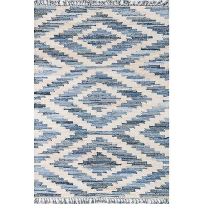 California Laguna Hand-Woven Cotton Blue Area Rug Rug Size: Rectangle 26 x 4