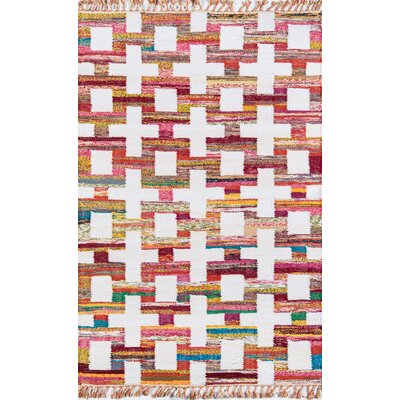 California Ojai Hand Woven Cotton Red/Yellow Area Rug Rug Size: Rectangle 76 x 96