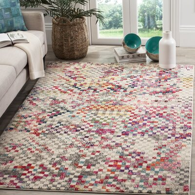 Elston Grey/Multi Area Rug Rug Size: Rectangle 51 x 77