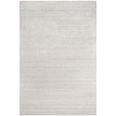 Mirage Hand-Woven Silver Area Rug Rug Size: Rectangle 6' x 9'
