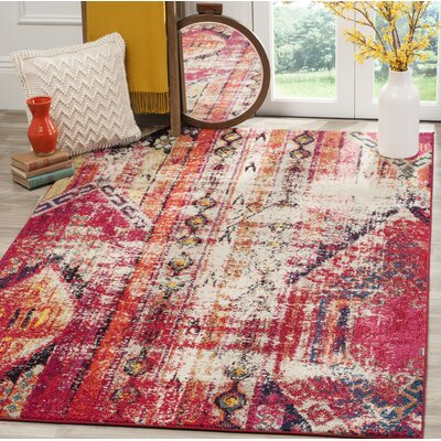 Elston Tibetan Pink Area Rug Rug Size: Rectangle 51 x 77