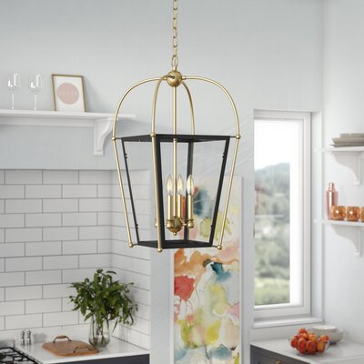 Hedstrom 4-Light Foyer Pendant Finish: English Bronze/Warm Brass