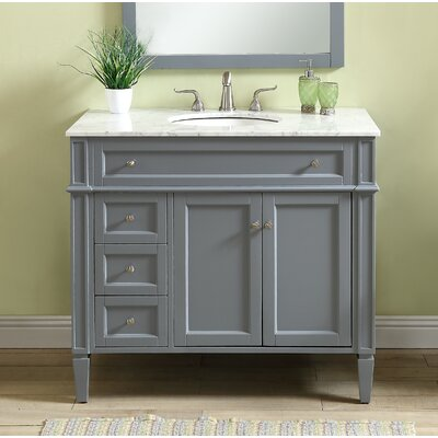 Beetwood 40 in. Single Bathroom Vanity set Base Finish: Gray