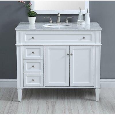 Beetwood 40 in. Single Bathroom Vanity set Base Finish: White